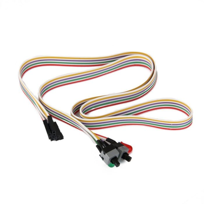 Rajiekart ATX PC Computer Motherboard Reset Switch Cable 2 Switch On/Off/Reset with LED Light 1