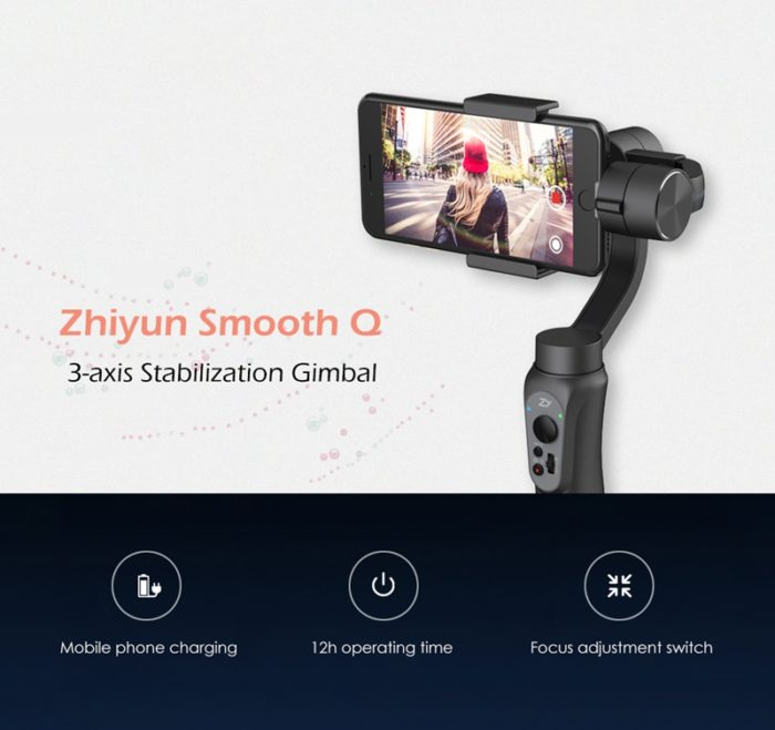 Zhiyun Smooth Q 3-axis Stabilization Gimbal for Gopro 1