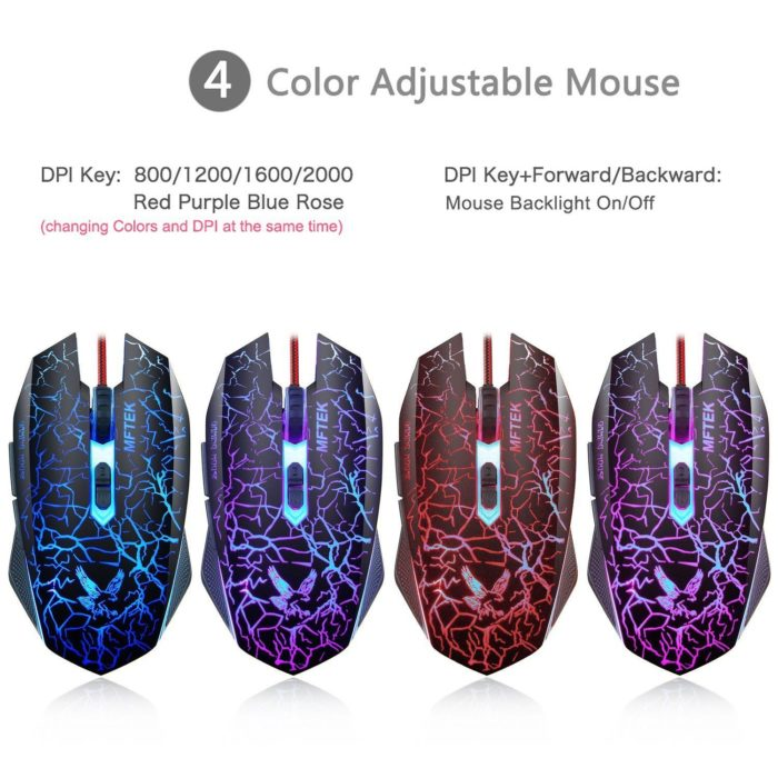 Gaming Mouse [2000 DPI] [Programmable] [Breathing Light] with 7 Buttons for PC 3