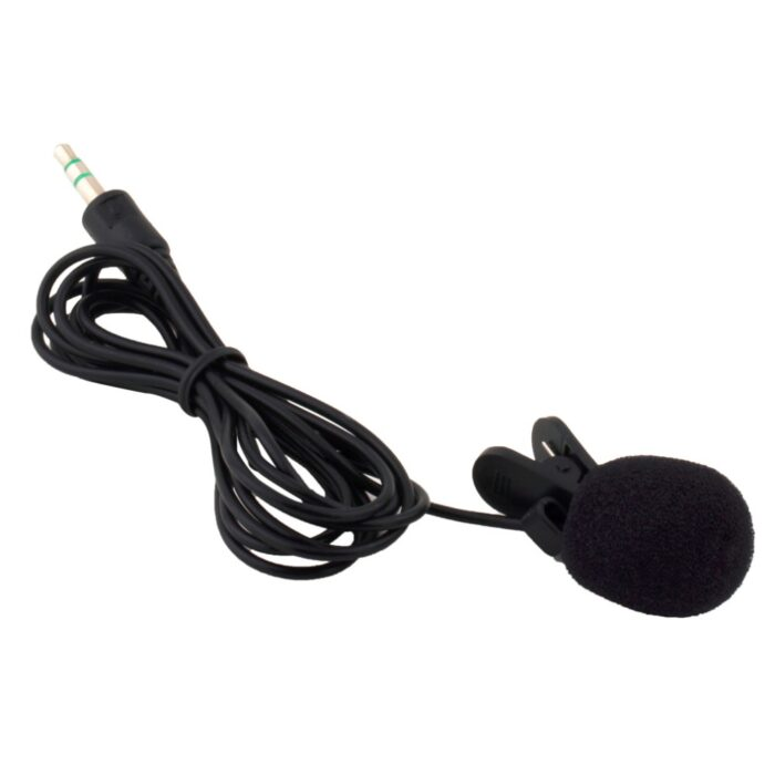 Rajiekart 3.5mm Hands Free Clip on Microphone Collar Mic For PC laptop Mobile 3